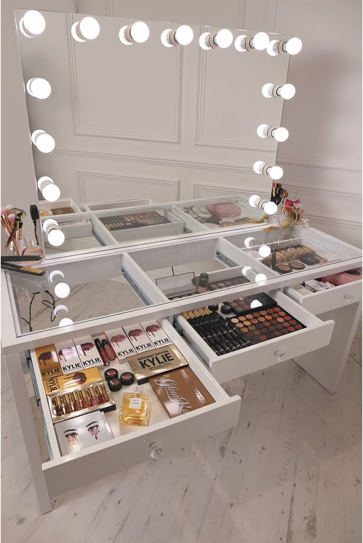 stand up vanity mirror with lights. crisp white finish Slaystation make up vanity with premium storage  three spacious drawers encrusted Best 25 Make mirror ideas on Pinterest Mirror