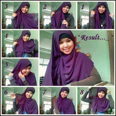 Tutorial Hijab Modern 48