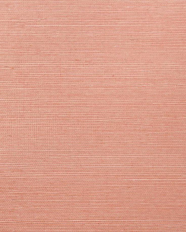 Grasscloth Wallpaper Light Coral - Serena & Lily - $298 - domino.com