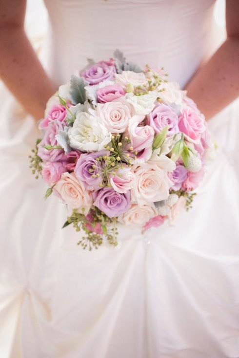 Pinks and violet #wedding flowers - Chanele Rose Flowers