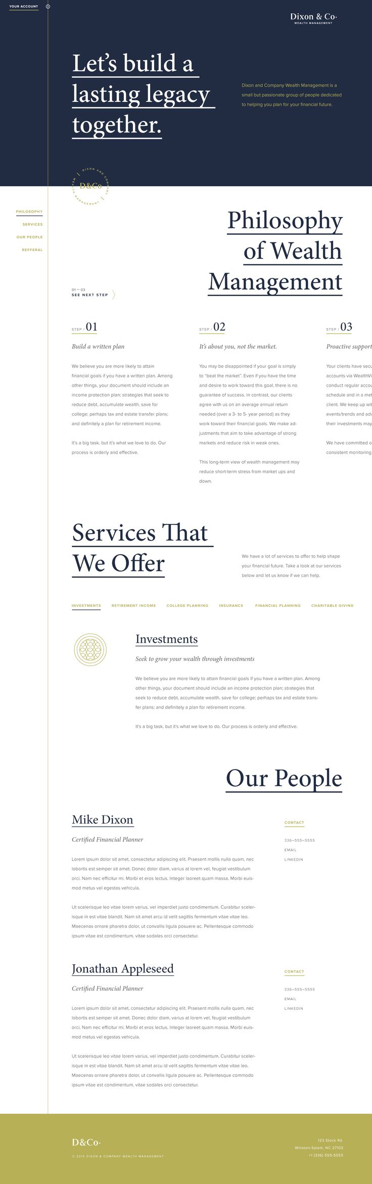 D&Co Website by Adam Dixon | dribbble