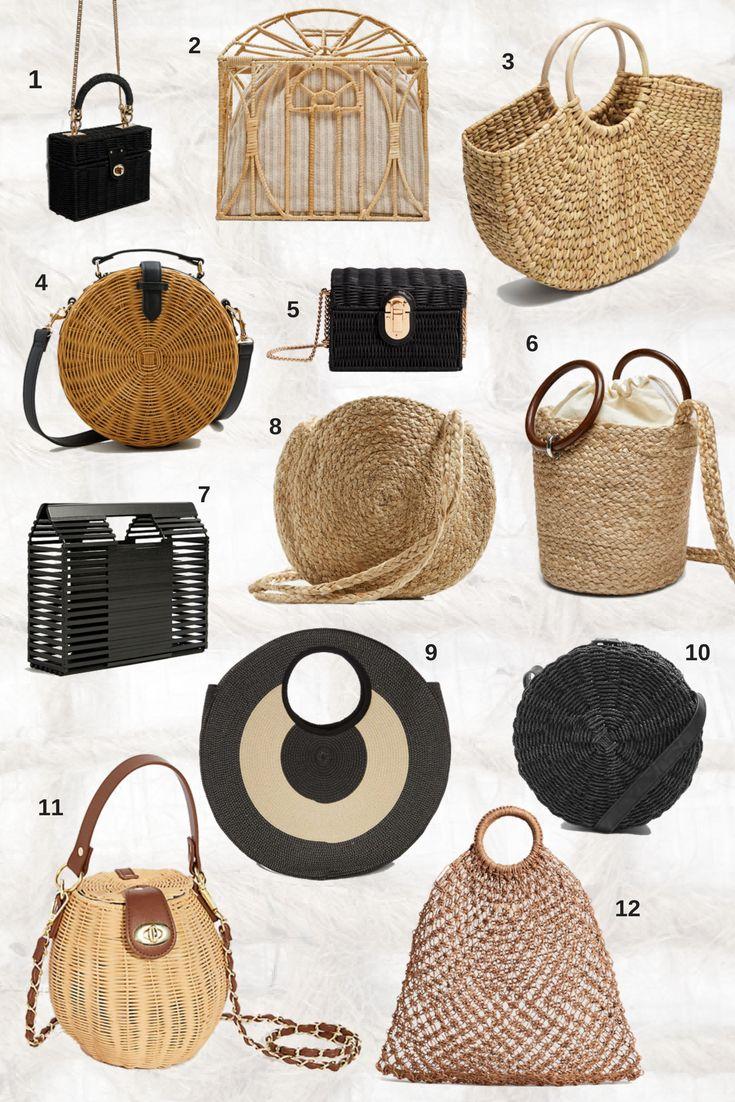 beautiful basket bags under 50e #springstyle #basketbag #bamboobag