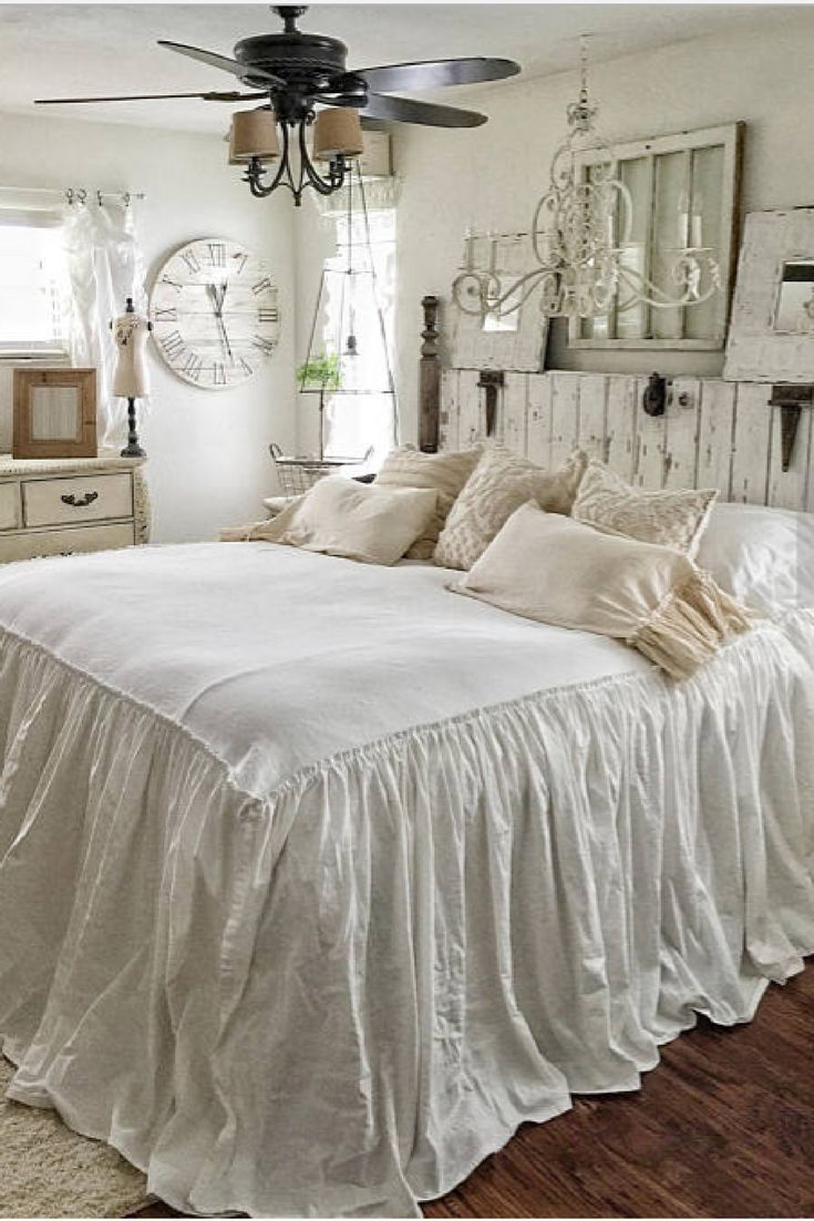 So pretty!! | Ruffled BedSpread | Shabby Chic Bedding | Ruffled Bed Cover | Ruffled Coverlet | Ruffled Bedding | Linen Bedding | Ruffled Bedding | Etsy | ad | #bedding #ruffled #shabbychic #forthehome #rustic #bedrooms #linen #duvet