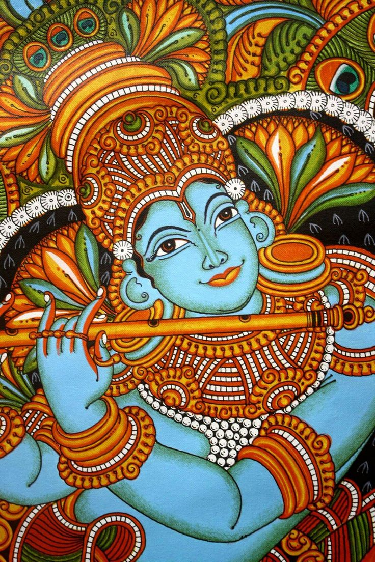 736 best kerala mural paintings images on pinterest for Abstract mural designs
