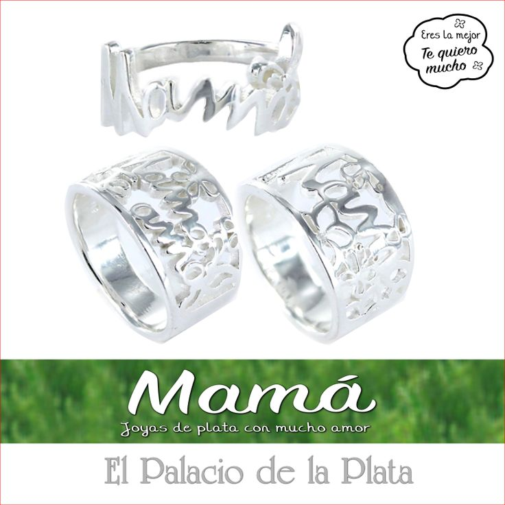 Colección Mamá, Joyas de plata con mucho amor. http://www.elpalaciodelaplata.com/catalogo/buscar?find=mama