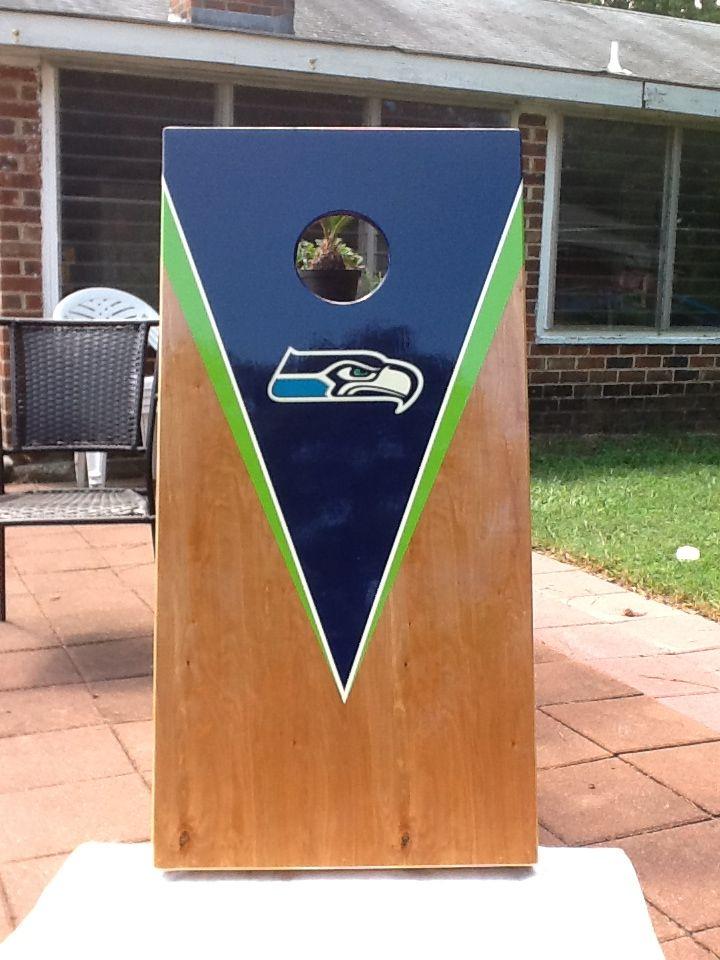 Wonderful Seahawks Cornhole Boards, So Awesome!