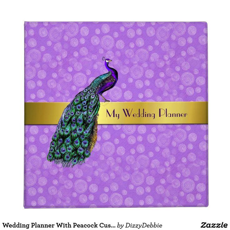 Wedding Planner With Peacock Custom Binder