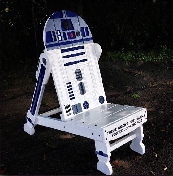 Turn your garden into a Star Wars haven with the R2-D2 garden chair. :) #starwars