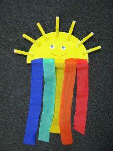 Солнышко с радугой