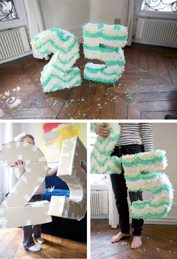 Piñatas a mano para una fiesta de cumpleaños muy especial