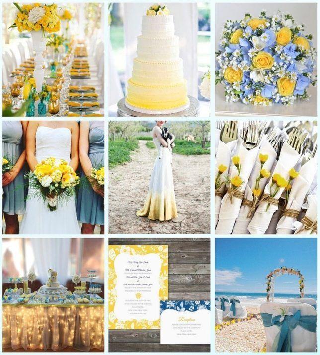 Matrimonio Giallo E Azzurro : Oltre fantastiche idee su matrimoni in giallo