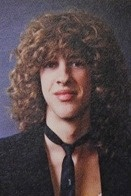 Hillel Slovak, the original guitarist for the Red Hot Chili Peppers, in his 1980 yearbook at Fairfax high school in Los Angeles, California. The other members of the Red Hot Chili Peppers were his classmates.