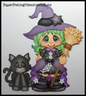 Halloween Witch created PAPER PIECING MEMORIES BY BABS, pattern by Cuddly Cute Designs