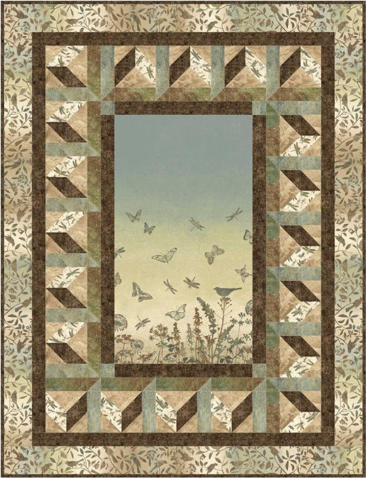 134 best Panel quilts images on Pinterest | Landscapes, Panel ... : quilt patterns with panels - Adamdwight.com