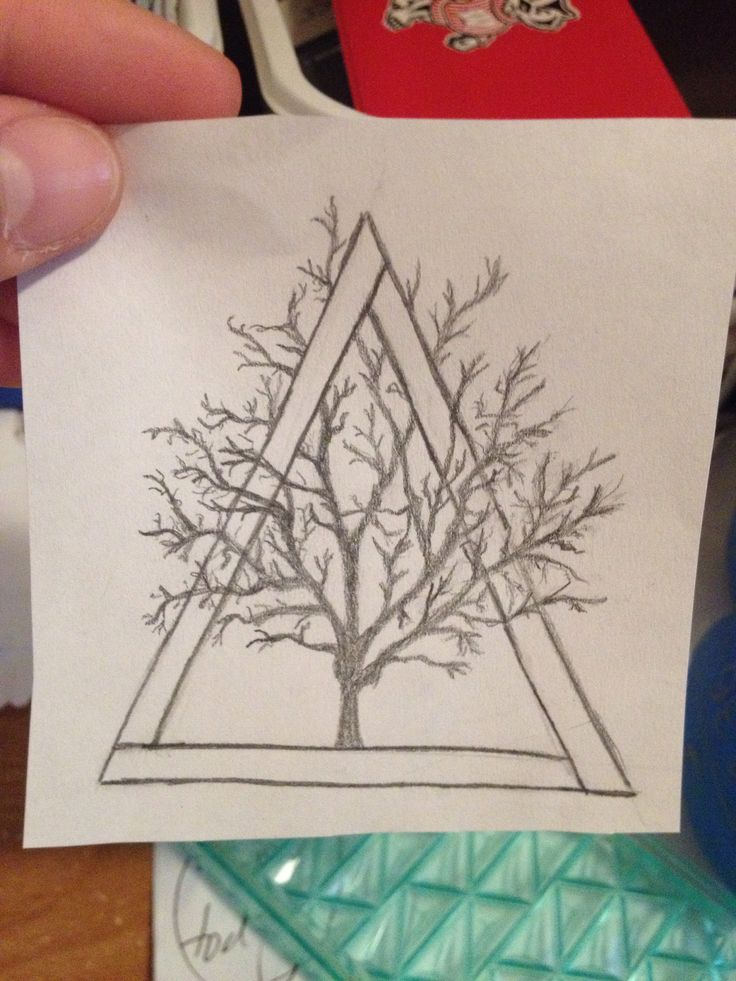 Gonna get this soon. The triangle is the Greek letter delta and in physics and equations it's used to show a change in something. The tree is a symbol of life. Part of what I live for is helping people change their lives for the better. I enjoy changing lives and this encompasses that in a creative way!