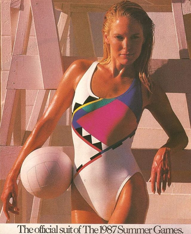 The official suit of The 1987 Summer Games … #1987 #speedo #summergames…