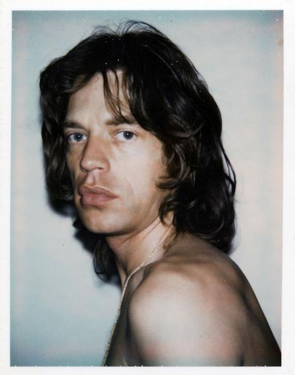 mick jagger on polaroid by andy warhol