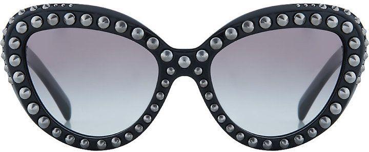 Prada PR31Q Studded Cat Eye Sunglasses