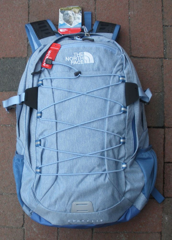 THE NORTH FACE WOMENS BOREALIS BACKPACK- DAYPACK- # CE86 -VINTAGE BLUE HEATHER in Sporting Goods, Outdoor Sports, Camping & Hiking | eBay