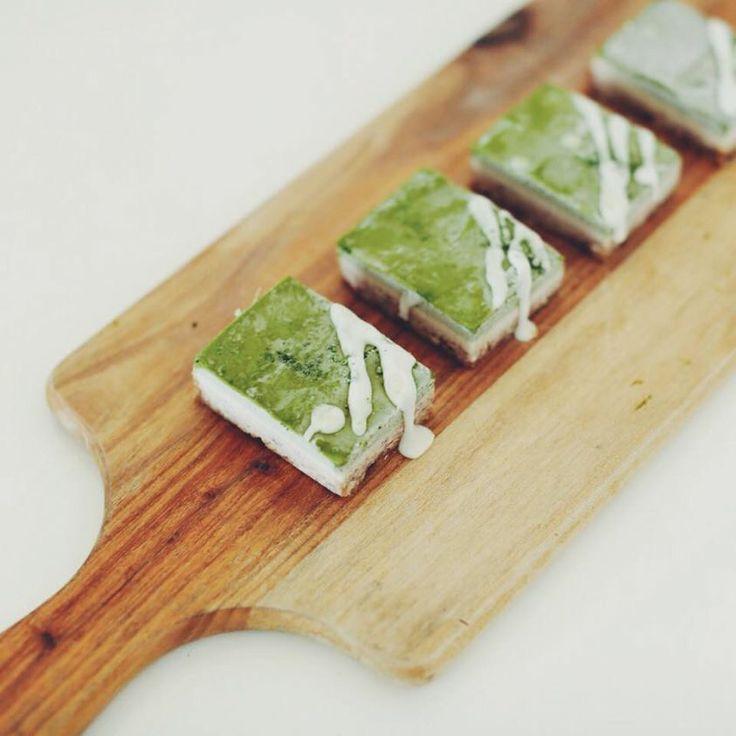 Matcha Cha Cha! Raw Green Tea Slice