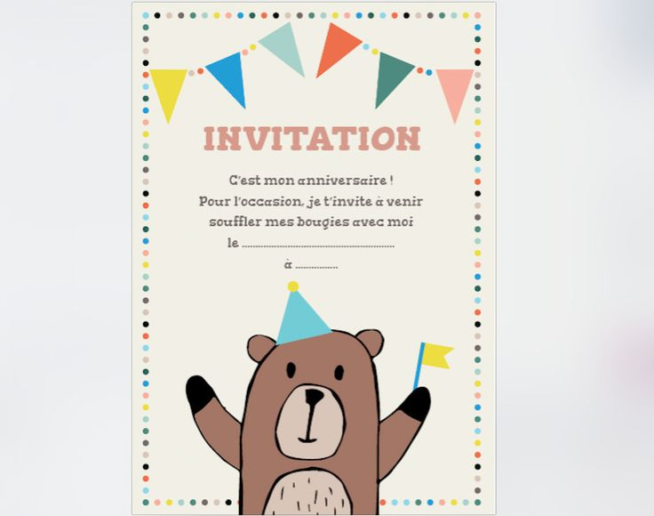 1000 ideas about invitation anniversaire enfant on pinterest invitation anniversaire carte d. Black Bedroom Furniture Sets. Home Design Ideas