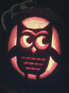 pumpkin stencil with silhouette