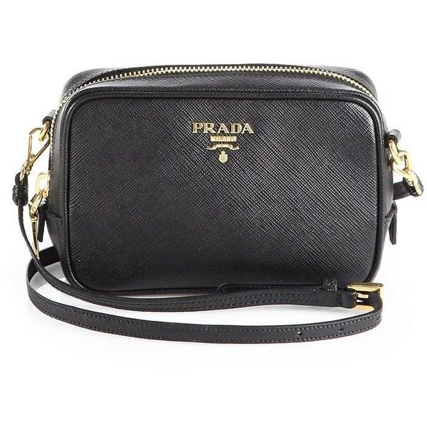Prada Saffiano Leather Camera Bag (9.383.345 IDR) ? liked on ...