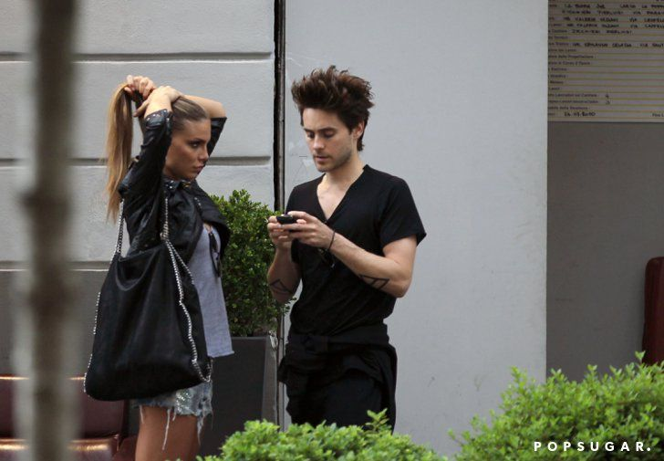 Pin for Later: Proof That Jared Leto Has Had as Many Girlfriends as He Has Hairstyles Nina Senicar Jared was rumored to be romancing Serbian model Nina Senicar after the two were spotted grabbing drinks together in Milan in July 2011.