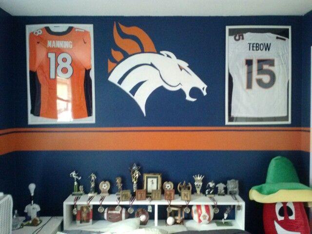 41 best images about bronco room on pinterest football for Denver broncos bedroom ideas
