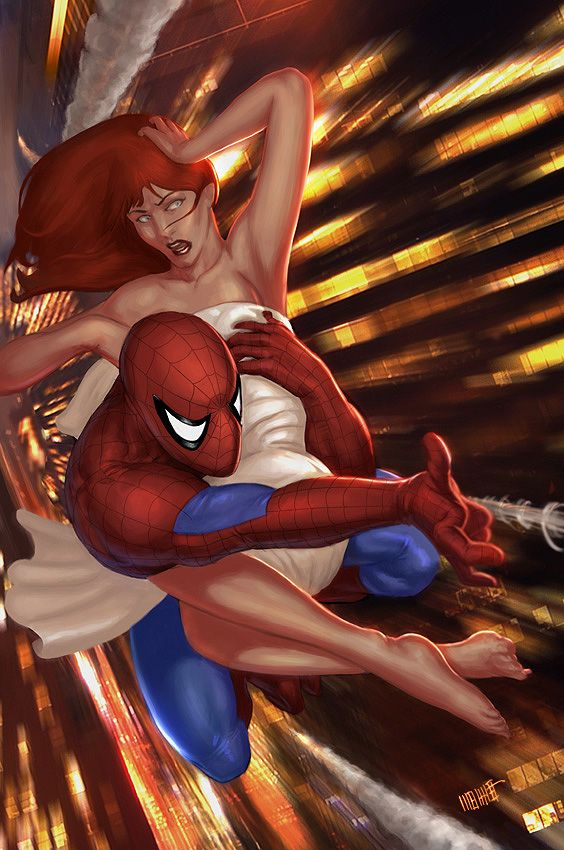 Spider-Man and Mary-Jane Watson by Mehmet Ozen a.k.a. Memed