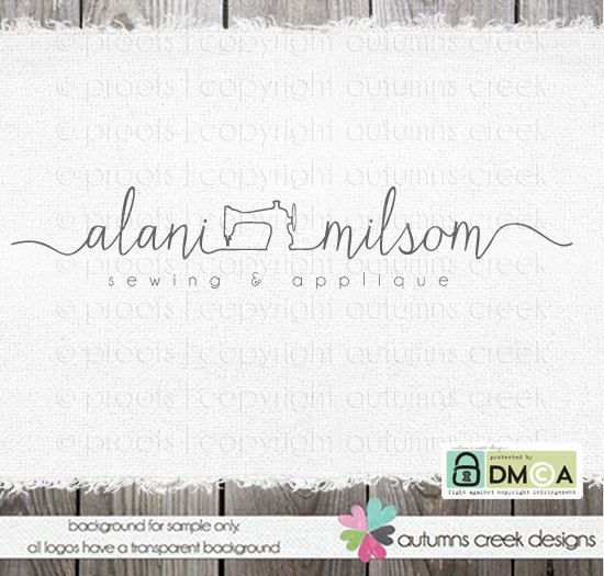 logo de coser premade logo máquina de coser logo por autumnscreek