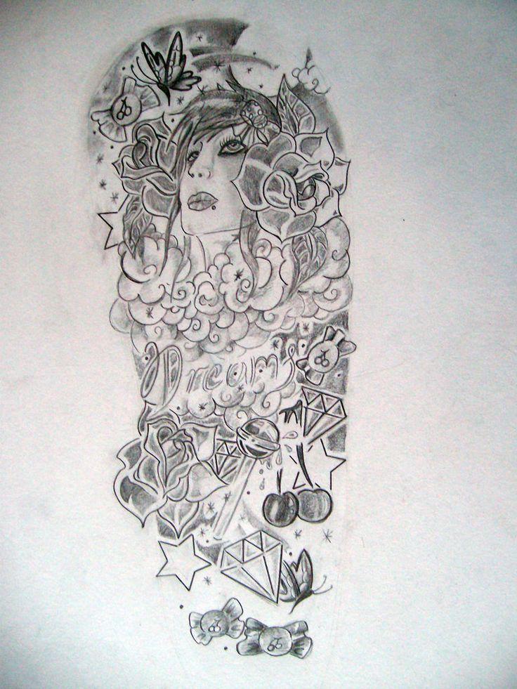 Pin By Rafael Neiva On Tattoo Skull Art Tattoo Free Tattoo Designs Half Sleeve Tattoos Designs