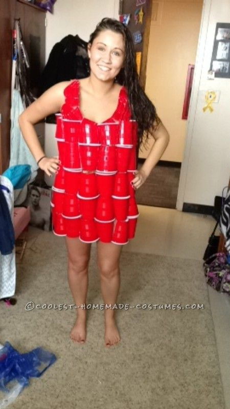 Coolest ABC Party Dress Made Out of Solo Cups and Shopping Bags ... This website is the Pinterest of costumes