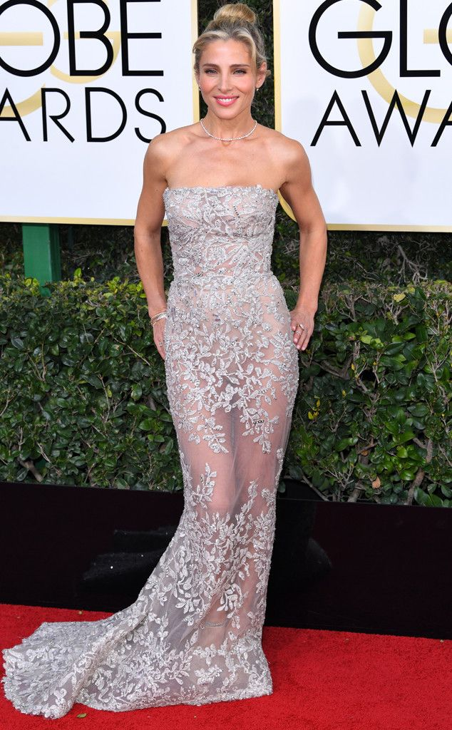 Elsa Pataky in Zuhair Murad at the 74th Annual Golden Globe Awards at The Beverly Hilton Hotel on January 8, 2017 in Beverly Hills, California.