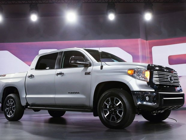 Toyota introduces the 2014 Tundra pickup truck at the Chicago Auto Show.
