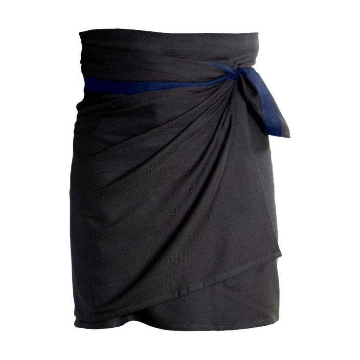 Schort zwart met blauw band van The Organic Company