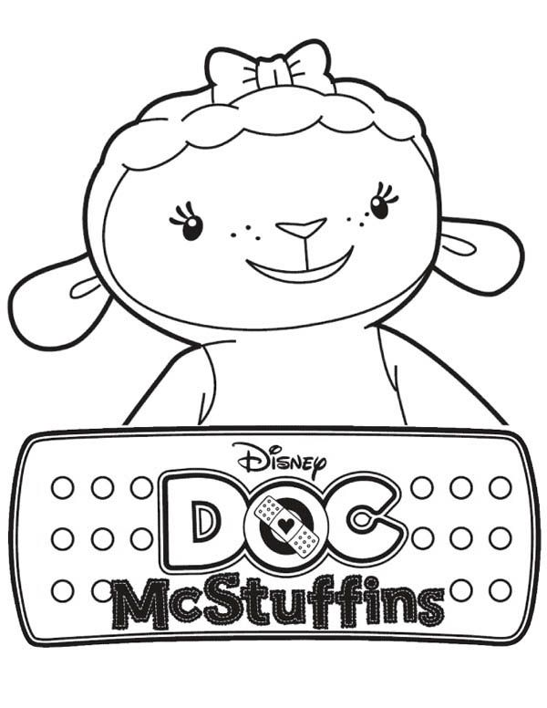 lambie the lamb in doc mcstuffins coloring page netart