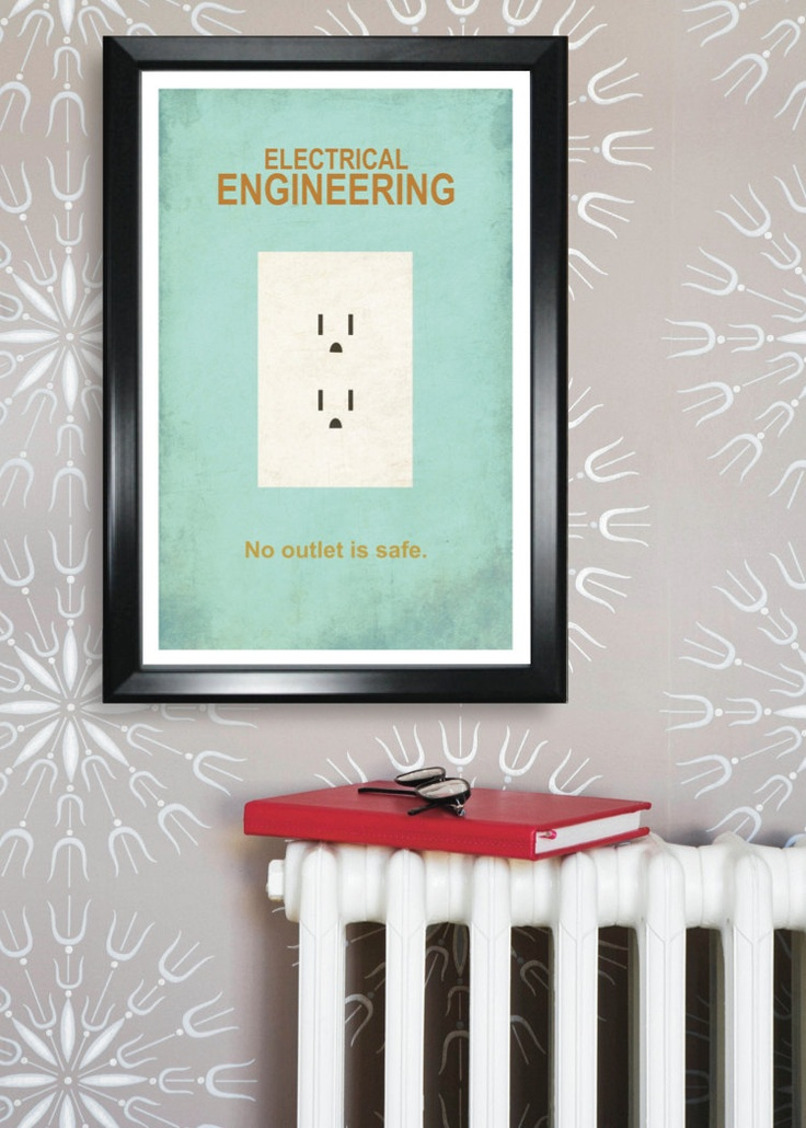 Electrical Engineering Minimalism 11x17 Poster Print