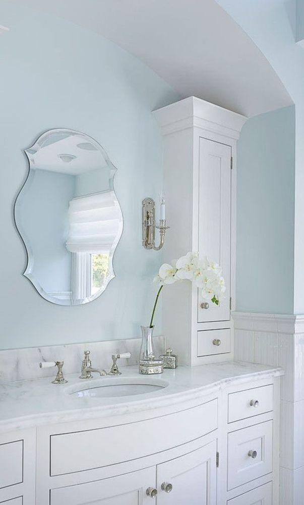 59 Stylish And Original Decorating Ideas For Bathrooms 2020 Part 17 Bright Bathroom Light Blue Bathroom Painting Bathroom