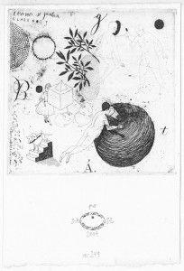Sin título No. 249. 2007. Aguafuerte. P/A. 15 x 10 cm