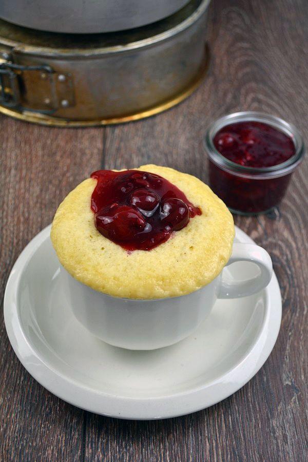 Vanille Tassenkuchen mit Kirschgrütze 5-2