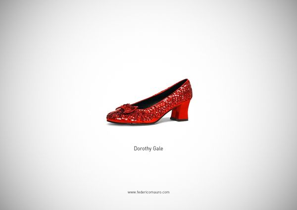 Famous Shoes by Federico Mauro, via Behance