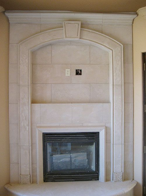 Stone Fireplace Mantels | Austin Cast Stone Fireplace Mantel | Overmantel |  NJ