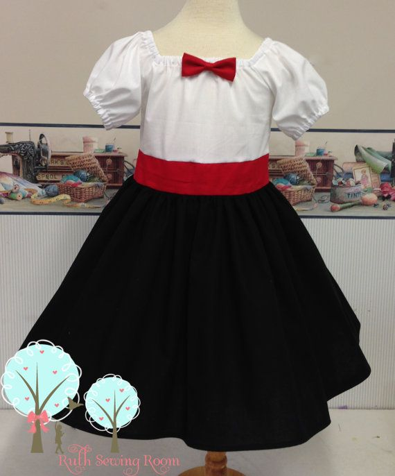 Mary Poppins Costume Mary Poppins Dress by RuthSewingRoomDesign