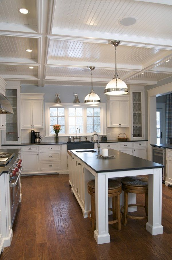 fantastic kitchen black slate countertops slate farmhouse style sink wooden  flooring