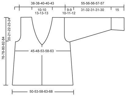 "DROPS 88-12 - DROPS Vestje met ceintuur van ""Vienna"". - Free pattern by DROPS Design"