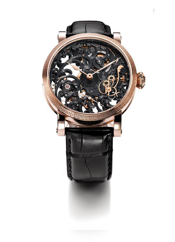 Grieb & Benzinger - skeletonized watches for women
