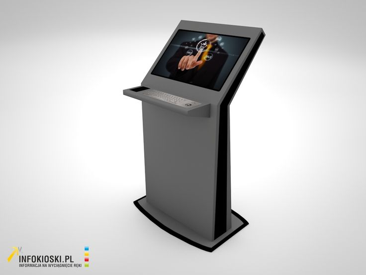 Info Kiosk with an 24'' capacitive touch screen and a metal keyboard