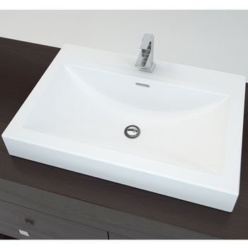 cantrio koncepts' solid surface countertop sink with deck