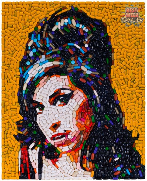 Best Collages Waste Material Images On Pinterest Buttons - 24 amazing celebrity portraits made using unusual materials